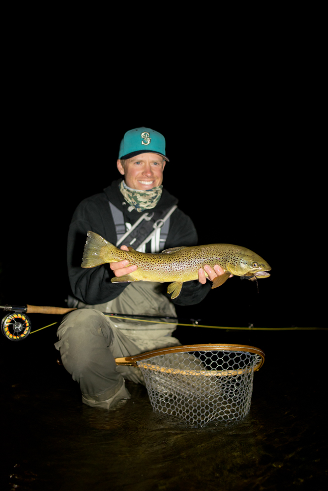 Brown for Trout fishing at night
