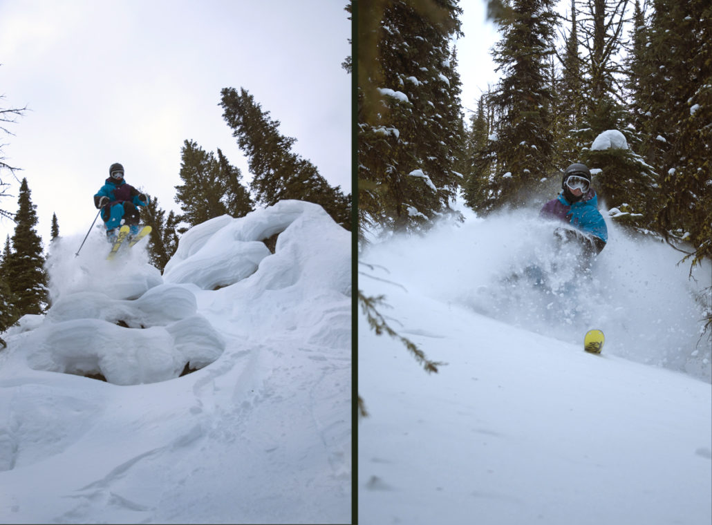 lost trail, montana, skiing, powder, resort, pillows, k2
