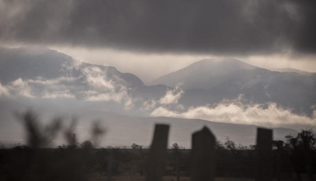fog, clouds, snow