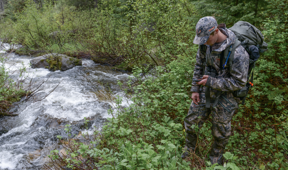 GPS, Hunting GPS Maps, Navigation, Sitka Gear, Montana Wild, Stream Crossing, Backcountry