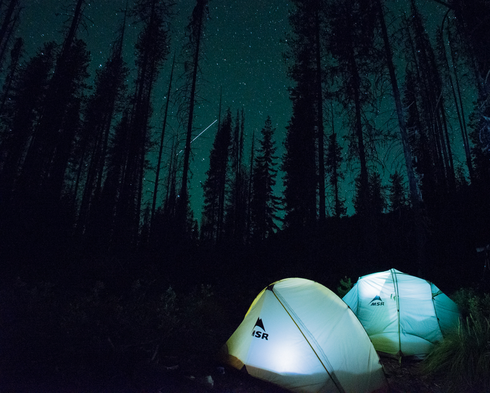 Night Photography, Anthony VonRuden, MSR, Night Photos, Montana Wild, Idaho WIlderness, Star Photography, Camping in the Dark