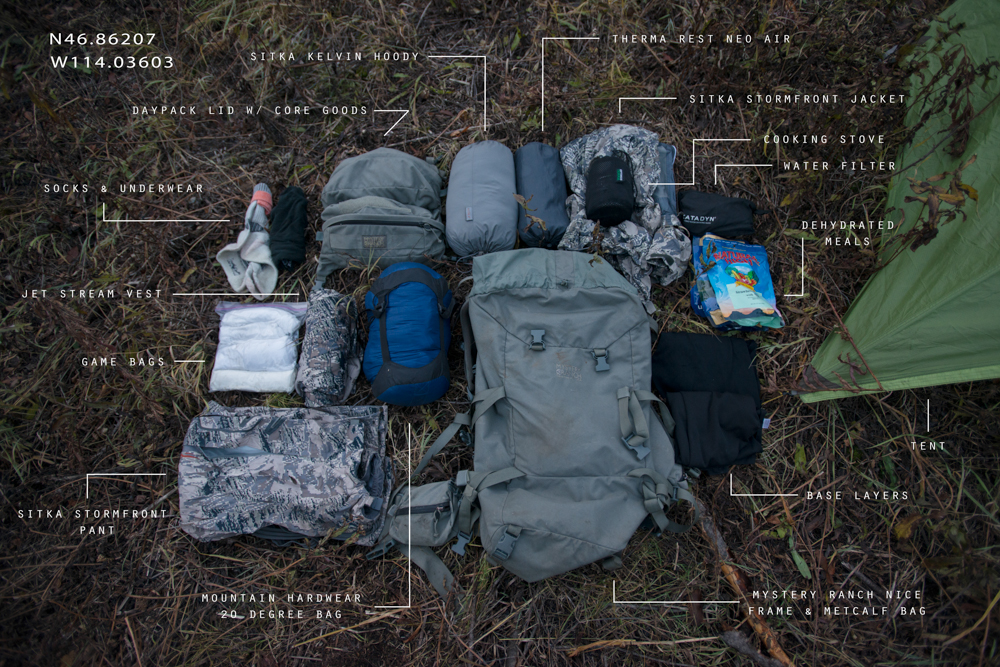 backpack, hunting, montana, wild, camping, mule, deer, elk, bear