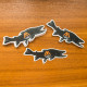 bull, trout, decal, sticker