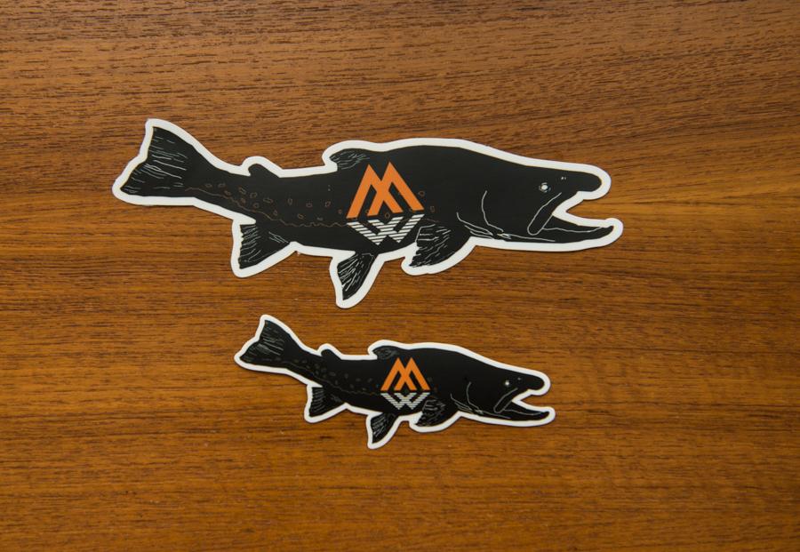 fatty bully, fatty bully decal, bull trout sticker, bull trout decal, trout decal, trout sticker, montana wild, char sticker, char decal