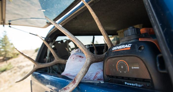 generator, hunting, 2000 watt, bowhunting, elk, rack