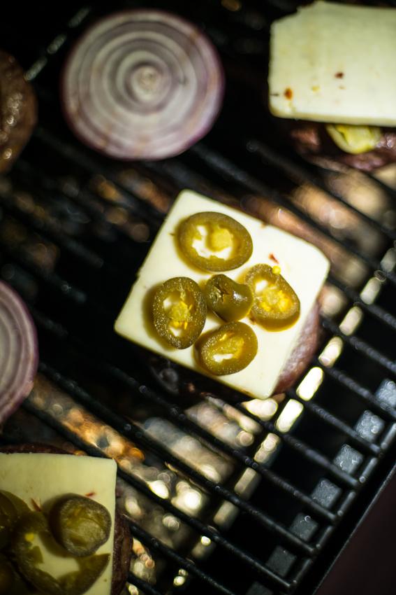elk, burger, grilling