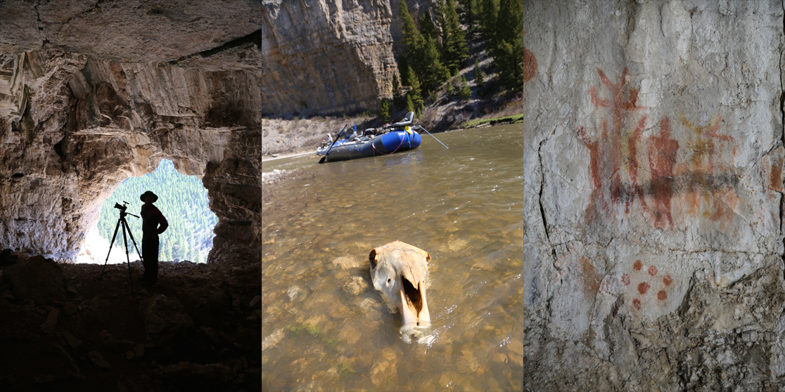 smith river, montana, pictographs, cave, fishing, skull, film, video, 2016