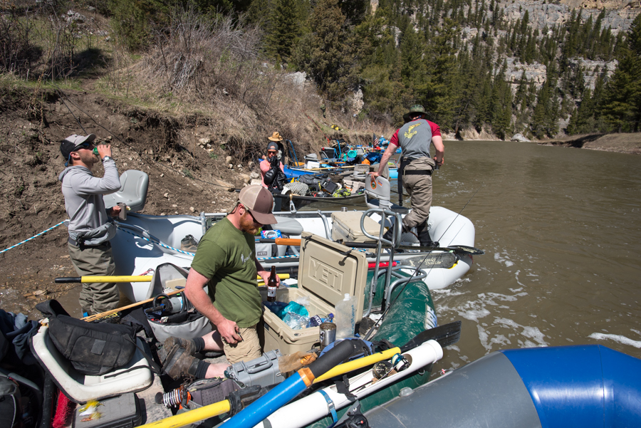 smith river, montana, fishing, party, traffic jam, rafting