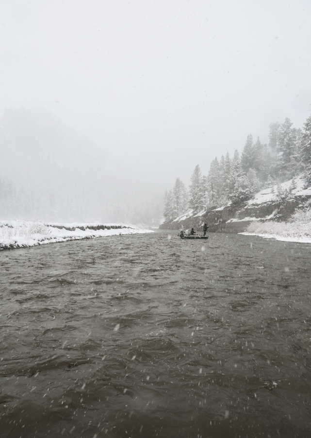 montana, smith river, fishing, snow