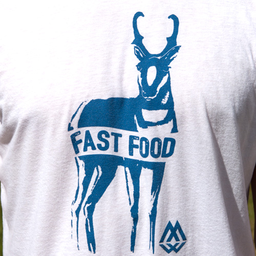 fast, food, tee, t-shirt, antelope, pronghorn, montana, wild, speedgoat