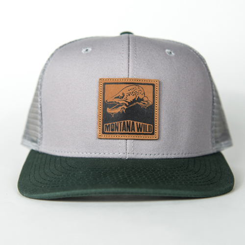 Bugged out brown trout trucker forest montana wild for Trout fishing hats
