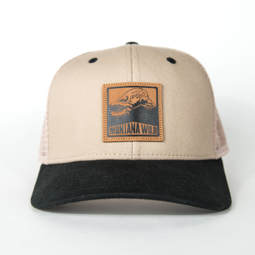 Bugged, out, brown, trout, trucker, hat, bucknasty, fly, fishing, montana, wild