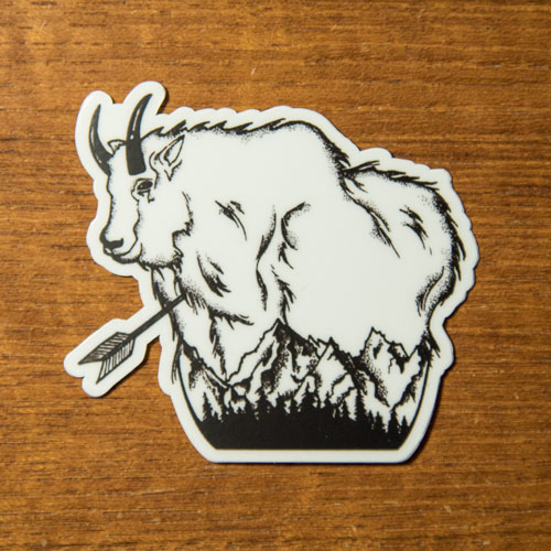 mounta goat, mtn goat, mtn, goat, decal, sticker, montana, wild