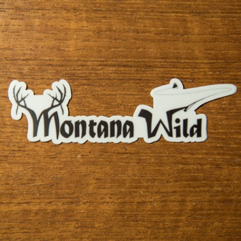 montana wild, 406, original sticker, decal, hunting, fishing