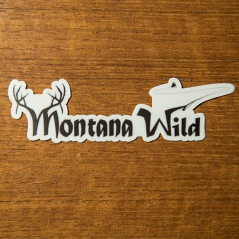 montana wild, 406, original sticker, decal, hunting, fishing