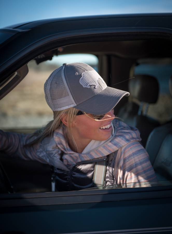 ladies, who, fish, women, buffalo, bison, hat, trucker, montana, wild, bozeman, fly fishing