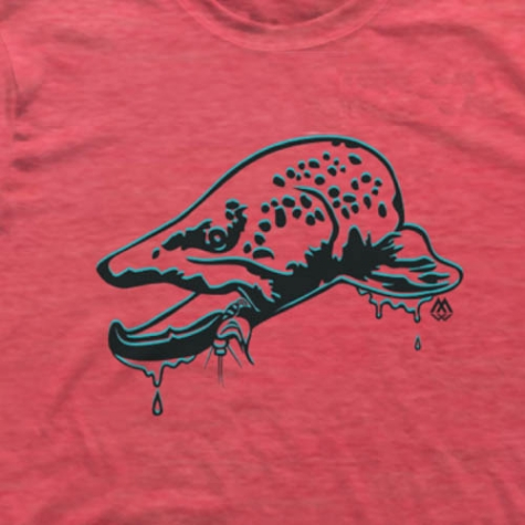 trout, tee, t shirt, montana, wild, brown, trout, bucknasty, browns