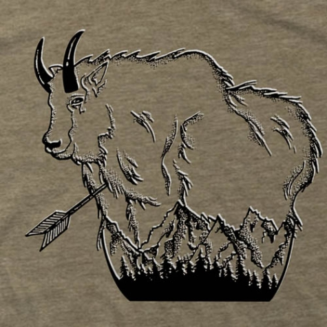 mountain, goat, mtn, tee, t-shirt, montana, wild, hat, hunting, arrow, bowhunting