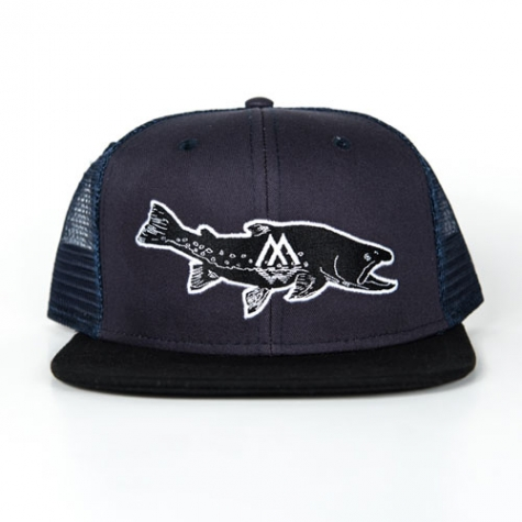 Bull, trout, hat, trucker, fishing, apparel
