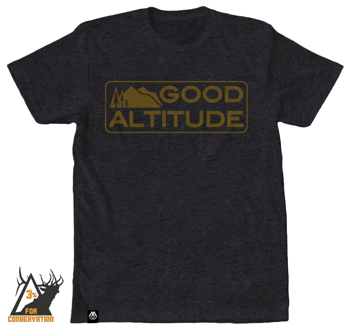 good altitude, elevation, hiking, outdoors, camping, biking, running, hunting, fishing, trail, camp, tee, shirt, bozeman, good altitude apparel