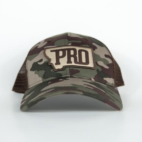 PRO, PRO hat, montana, bozeman, hunt, fish, wild, promont, archery, bowhunt, fly, snapback, flat brim
