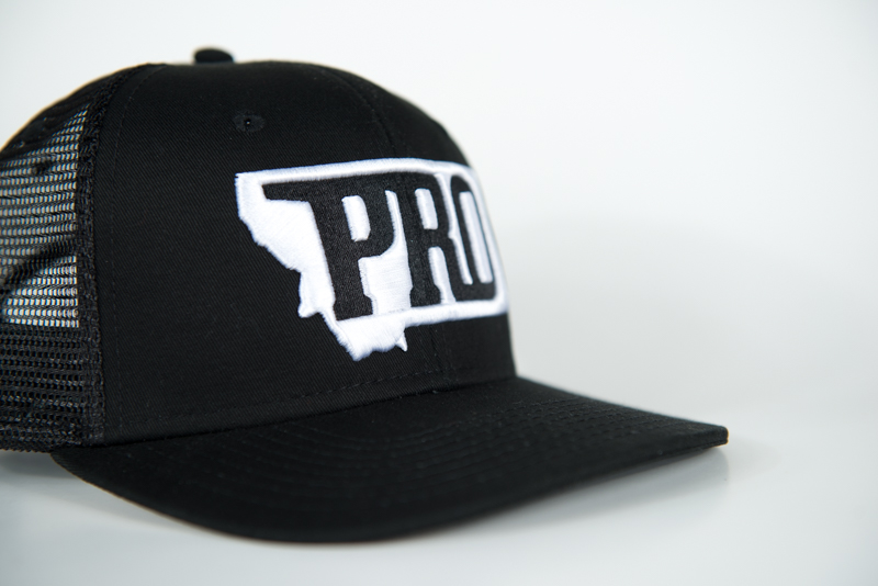 PRO, PRO hat, montana, bozeman, hunt, fish, wild, promont, archery, bowhunt, fly, snapback, flat brim, 3% For Conservation