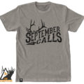 September calls, tee, t-shirt, elk, bugle, rut, bull, archery, bowhunting, archery, montana, wild, pro, promont, outdoors