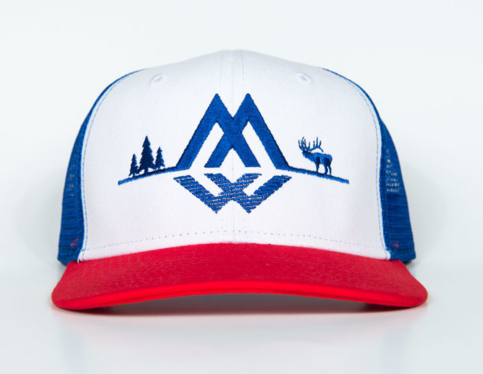 trucker, hat, fourth, july, america, montana wild
