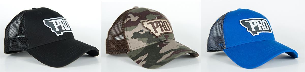 PRO, PRO hat, montana, bozeman, hunt, fish, wild, promont, archery, bowhunt, fly, snapback, montana pro apparel