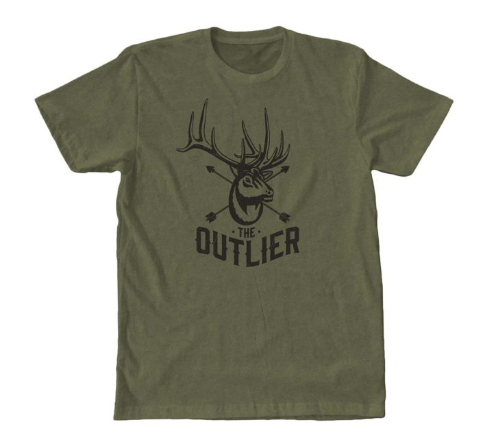 the outlier, elk, film, video, shirt, tee, bull, arrow, archery, bowhunting