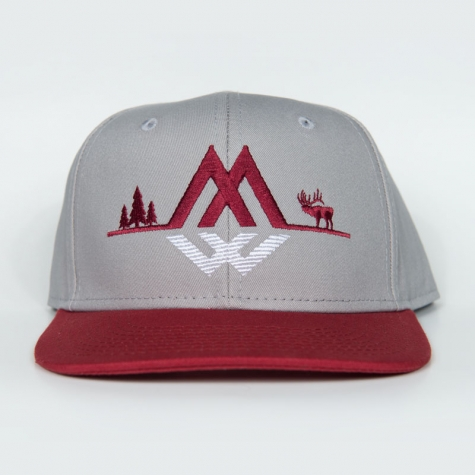elk ridge snapback, snapback, elk, hunting, griz, university, of, montana, montana wild