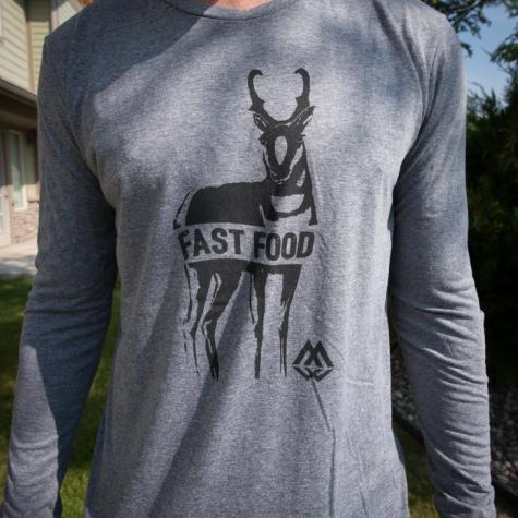 fast food, antelope, pronghorn, longsleeve, shirt, tee, t-shirt, montana, wild, hunting, hunt