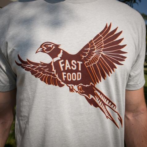 Fast food, pheasant, tee, shirt, t-shirt, montana, wild, upland, bird, hunt, hunting, grouse, quail, chukar, partrige