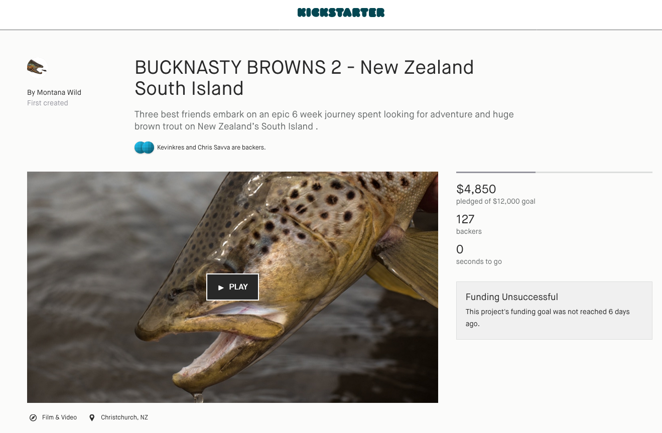 bucknasty browns, kickstarter, fishing, brown trout, montana wild
