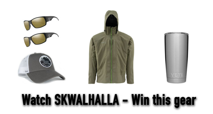 SKWALHALLA, gear giveaway, fly fishing, spring fishing, stoke, free stuff, fishing gear, outdoor gear, Good Altitude Trucker, buck nasty browns, skwala, stonefly, skwalla, dry fly hatch, stoke, fishing film, outdoor media, iTunes, Vimeo On Demand