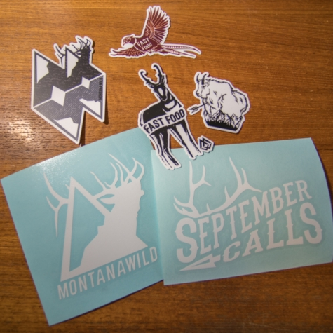 September Calls, Hunting, Montana Wild, Elk Icon, stoke, stickers, decal, sticker pack, outdoor media, fast food, MTN Goat, antelope, pheasant, elk, bowhunting, rifle hunting