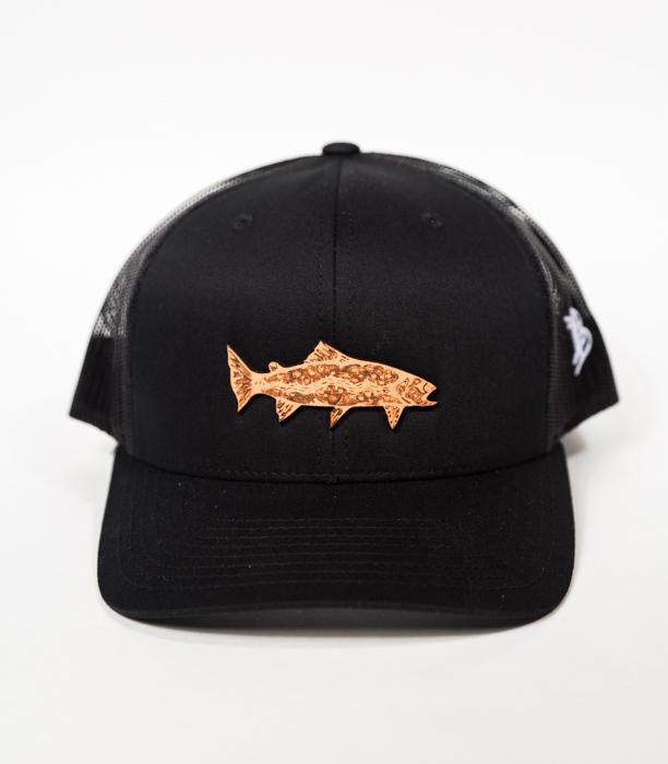 9e9357b7ec6c2 Topo Trout Trucker - Leather Patch Fishing Hat