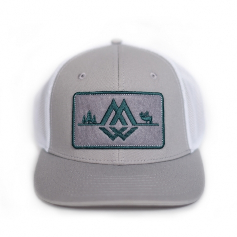 Fly Patch Trucker, Montana Wild, Outdoor media, fly fishing, fishing, outdoor activities, stoke, SKWALHALLA, outdoor apparel, hat, trucker hat, Montana Wild