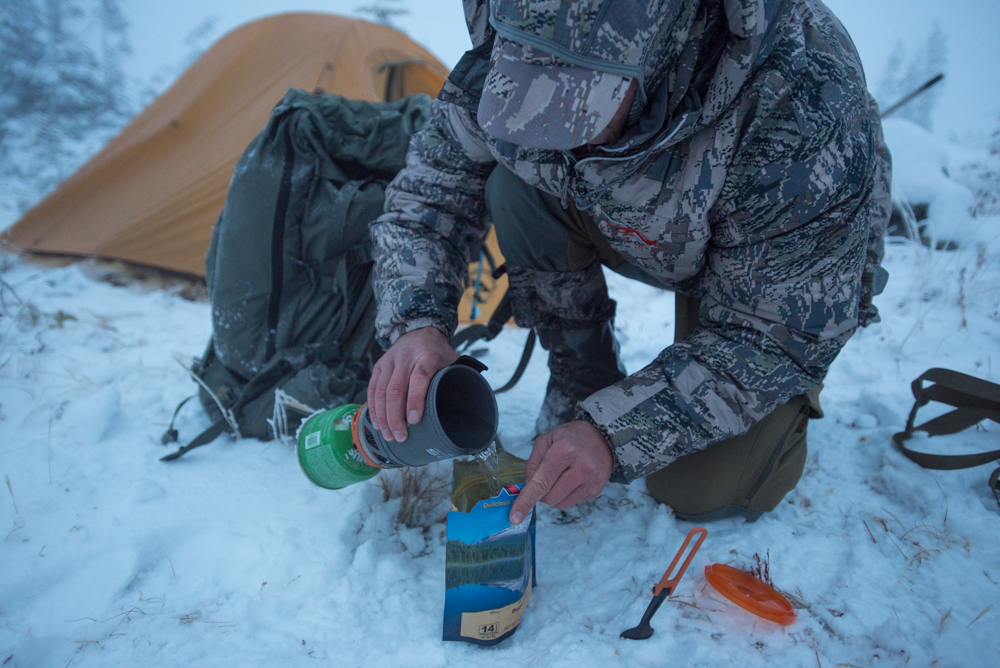 backcountry fuel, hunting, eating, food, cooking, camping