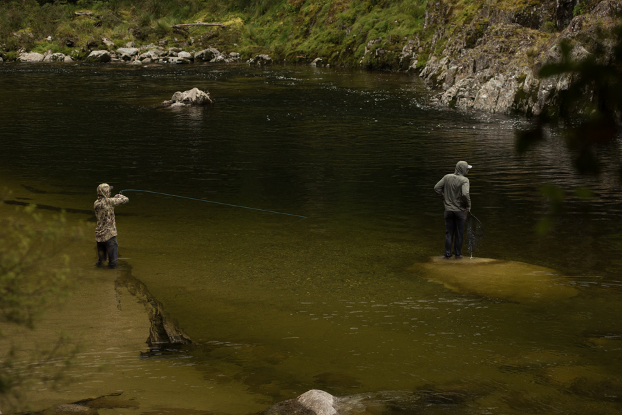 nz, new zealand, fly fishing, diy, backcountry, brown trout, south island, hooked up, big pool, friends